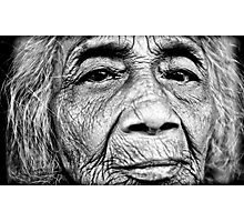 Wrinkles of Life Photographic Print