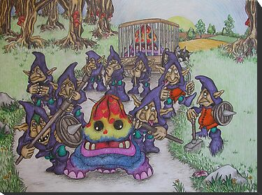 Nightgoblins and Stompers by woodrowsworld