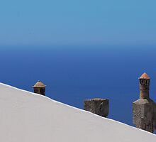 greek chimneys by Teresa Pople