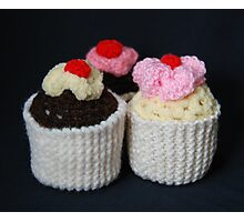 knitted cupcakes, yummy!! Photographic Print