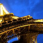Eiffel Tower night shot by Peter Ames
