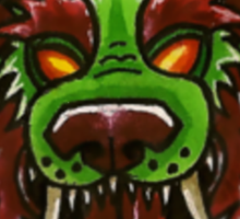 Lion/Dragon Foo Face With Cucumber Roll Sticker