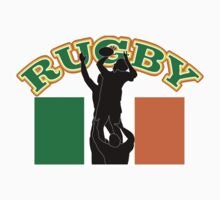 rugby player line-out Ireland flag T-Shirt
