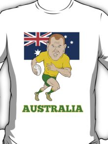 Rugby player running with ball Australia flag T-Shirt
