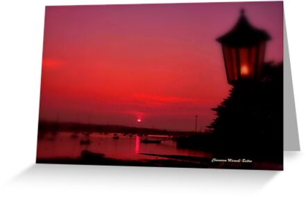 Lamp at Sunset by Charmiene Maxwell-batten
