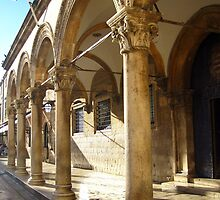 Columns - Dubrovnik by Honor Kyne