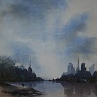 City skyline by Pauline Winwood