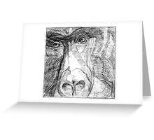 Garilla Face Greeting Card