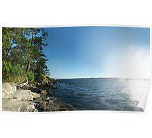 Rugged Coast (panorama) Poster