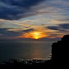 Birling Gap at Sunset by Alixzandra