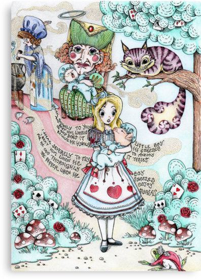 Alice & The Pig Baby  by MissCake