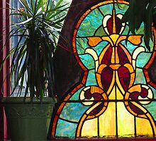Reclaimed Stained Glass by marybedy