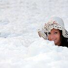 pretty lady in foam background by plamenx