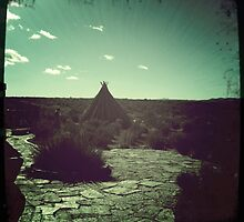 Natural Teepee At The Grand Canyon by Sarah Louise English