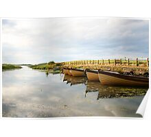 Boats on New Lake Dunfanaghy Donegal Ireland Poster