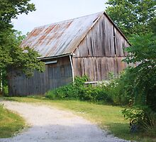OLD INDIANA BARN by Pauline Evans