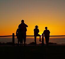 Watching the setting sun, July 2011 Broome  by Virginia  McGowan