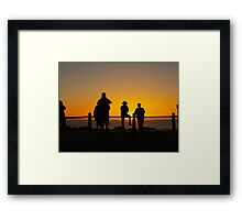 Watching the setting sun, July 2011 Broome  Framed Print