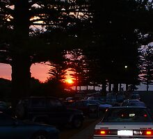 Carpark Sunset  by Robert Phillips
