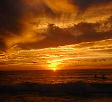 Sunset Surfers by Robert Phillips