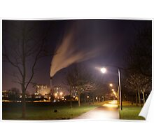 Glasgow green at night. Poster