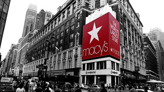 Tom Clancy › Portfolio › Macy's Department Store - New York City: www.redbubble.com/people/retrolink/works/7577509-macys-department...