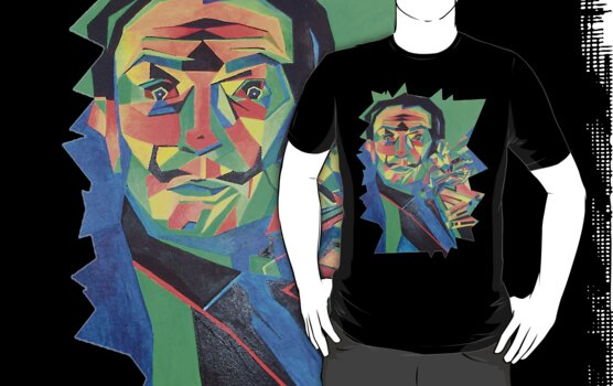 Salvador Dali with Ocelot and Cane by ArtToWear