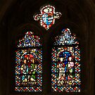 Stained Glass in the Chapter House Canterbury Cathedral by Lisa Knechtel