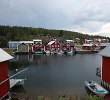 Fishing village on a rainy day by intensivelight