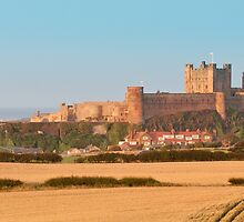 Bamburgh Castle from the West by Chris Vincent