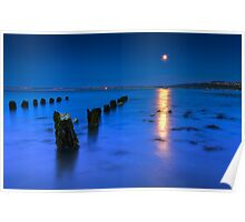 Moon over St Ives Poster