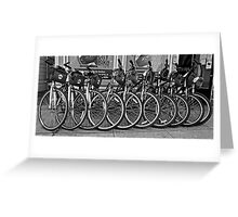 Black and White San Francisco Rental BIkes Greeting Card