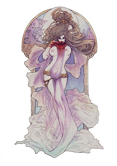 Art Nouveau Vampire by Lily McDonnell