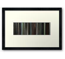 Moviebarcode: The Beach (2000) Framed Print