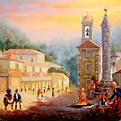 Praça do Mercado de Sintra - Market Square of Sintra - Place du Marché # Óleo sobre tela / Oil on canvas  by PedroAtanasio