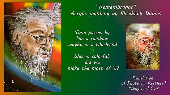 Remembrance card by Elisabeth Dubois