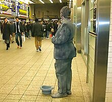 Subway mime, Times Square, NYC by RonnieGinnever