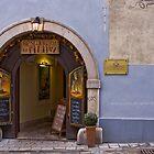 Front of the restaurant gourmet, U Filipa, Bratislava, Slovakia by Thibaut PETIT-BARA