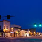 Blue Sunset Over Small Town America by BenSellars