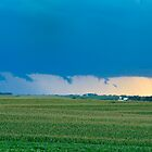 Ominous Clouds Over Farm by Christopher Hanke