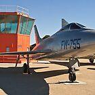 #52-5755 YF-100A Super Sabre side shot by Henry Plumley