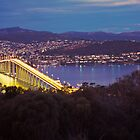 Dusk, Tasman Bridge by Brett Rogers