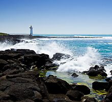 Griffith Island lighthouse, Port Fairy #3 by Roger Neal