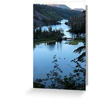 Twin Lakes Mammoth California from Twin Falls Greeting Card