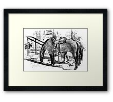 One Saturday Morning...The Sketch Framed Print