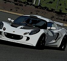 Lotus Exige on track by scoob