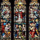 Stained Glass Window in St. James Anglican Cathedral, Toronto, ON by Gerda Grice
