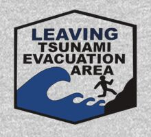 Tsunami Evacuation Area shirt from Hawaii by Jacob King