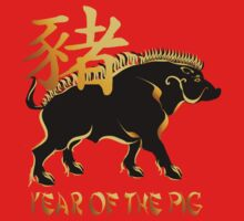 Year Of The Pig-Black Boar Symbol by Lotacats