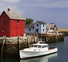 Rockport Harbor Panorama by Mark Van Scyoc